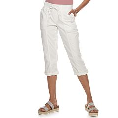 04a64b2b9a120f Juniors White Crops & Capris - Bottoms, Clothing | Kohl's
