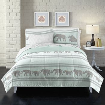 Loft Style Boho Elephant Bedding Set
