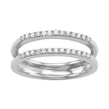14k White Gold 1/4 Carat T.W. Diamond Enhancer Wedding Ring