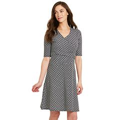 Women's IZOD Print Faux-Wrap Dress