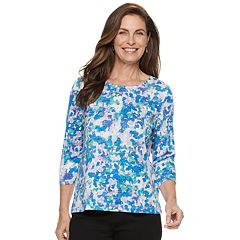 Petite Croft & Barrow® Scoopneck Top