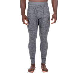 b65adf2d7a5c7 Men's Fruit of the Loom® Signature Soft Tec Thermal Pants. Black Gray