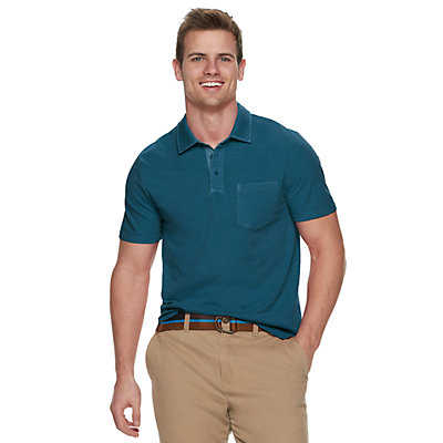 Men's SONOMA Goods for Life? Supersoft Washed Pocket Polo