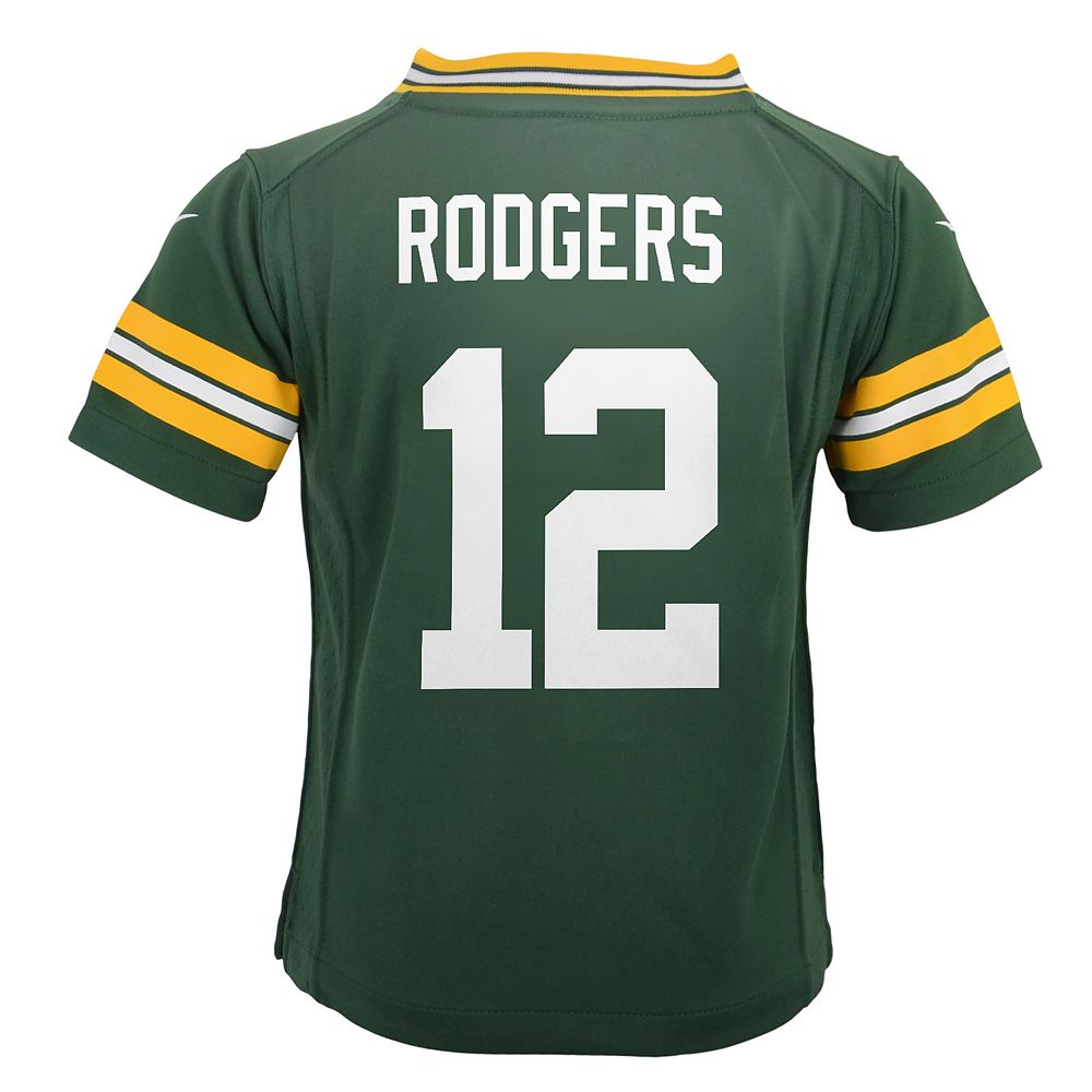 Boys 4-7 Green Bay Packers Aaron Rodgers Team Jersey