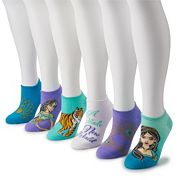 Disney's Aladdin Women's 6-Pack No-Show Socks