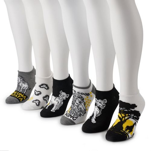 Disney's Lion King Women's 6-Pack No-Show Socks