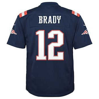 Boys 8-20 New England Patriots Tom Brady Team Jersey