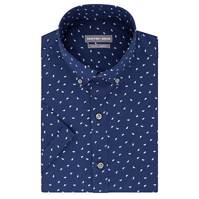 Men's Geoffrey Beene Slim-Fit Wrinkle-Free Short-Sleeved Dress Shirt