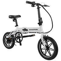 Swagtron SwagCycle EB Pro Folding Electric Bike with Power Assist (White) + $100 Kohls Cash