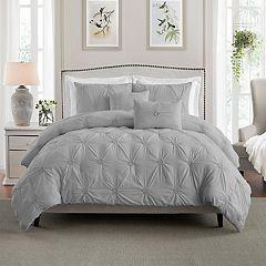 Swift Home Floral Pintuck Comforter Set