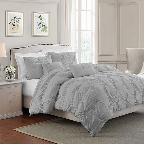 Swift Home Floral Pintuck Comforter Set by