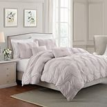 Swift Home Floral Pintuck Comforter Set