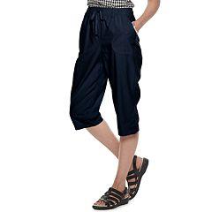 Petite Gloria Vanderbilt Carey Eyelet Pull-On Skimmer Pants