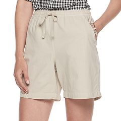 Petites Gloria Vanderbilt Lucy Sheeting Drawstring Shorts