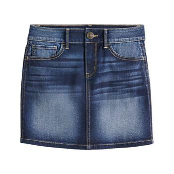Girls 7-16 & Plus Size SO® Faded Jean Skirt