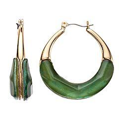 Dana Buchman Pear Hoop Earrings