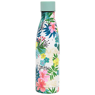 Wellness Double-Wall Stainless Steel 17-oz. Floral Water Bottle