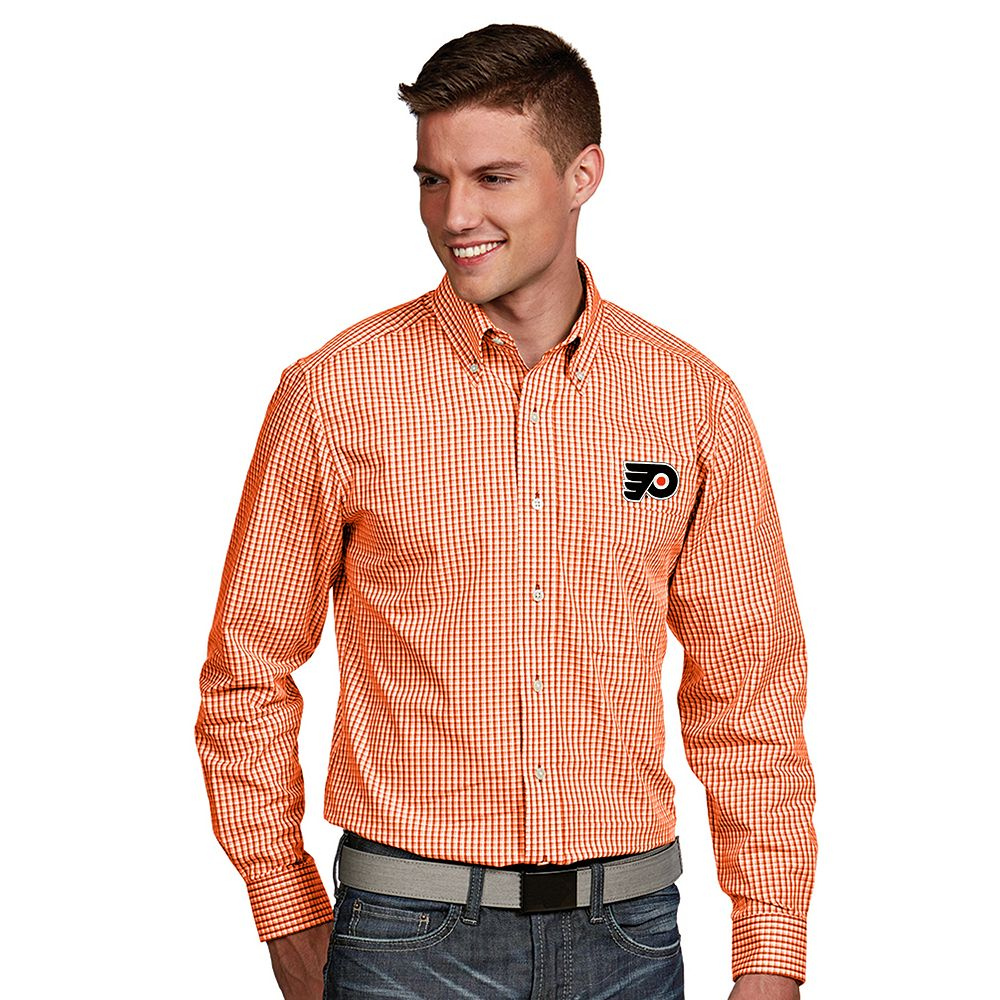 Men's Antigua Philadelphia Flyers Associate Button-Down Shirt