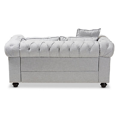 Baxton Studio Modern Chesterfield Loveseat