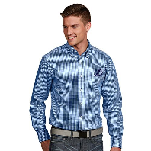 Men's Antigua Tampa Bay Lightning Associate Button-Down Shirt