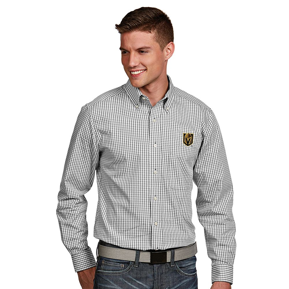 Men's Antigua Vegas Golden Knights Associate Button-Down Shirt