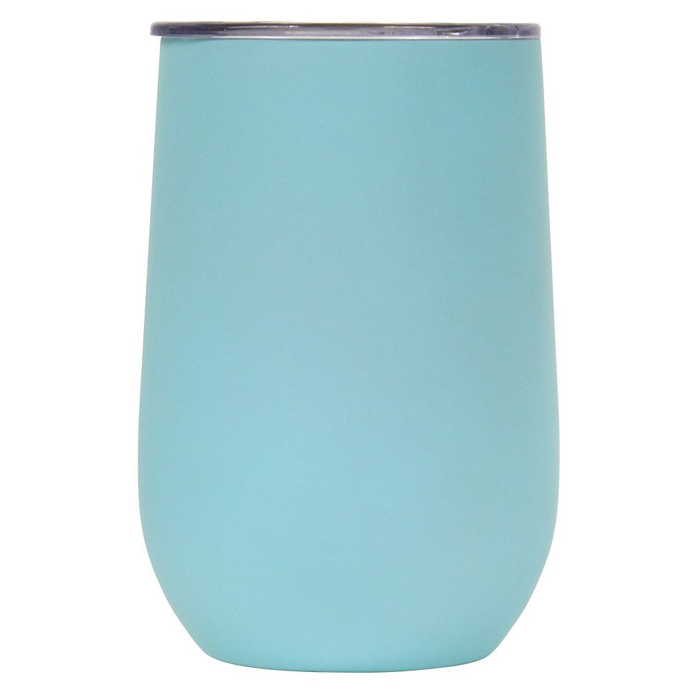 Wellness Double-Wall Stainless Steel 14-oz. Mint Wine Tumbler