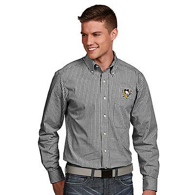 Men's Antigua Pittsburgh Penguins Associate Button-Down Shirt