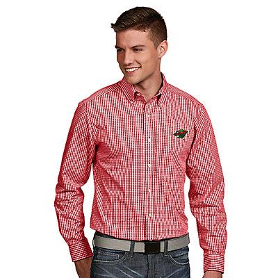 Men's Antigua Minnesota Wild Associate Button-Down Shirt