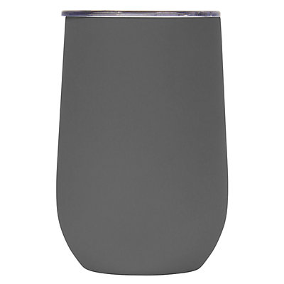 Wellness Double-Wall Stainless Steel 14-oz. Gray Wine Tumbler