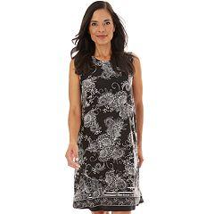 Petite Apt. 9® Printed Sleeveless Swing Dress