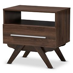 Baxton Studio Mid-Century 1-Drawer Nightstand