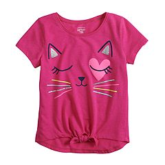 752d0f237abb Girls 4-12 Jumping Beans® Graphic Knot-Front Tee