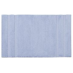 Madison Park Signature Stria Border Stripe Marshmallow Bath Rug