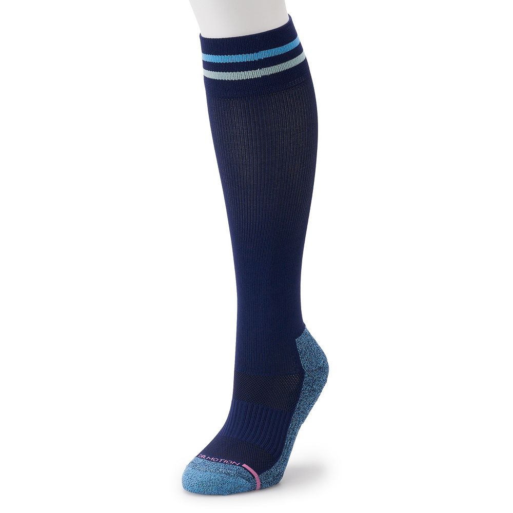 Women's Dr. Motion Striped Compression Knee-High Socks