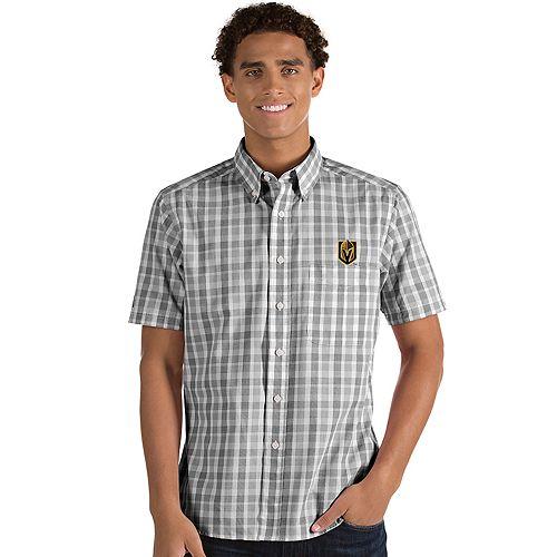 Men's Antigua Vegas Golden Knights Button-Down Shirt