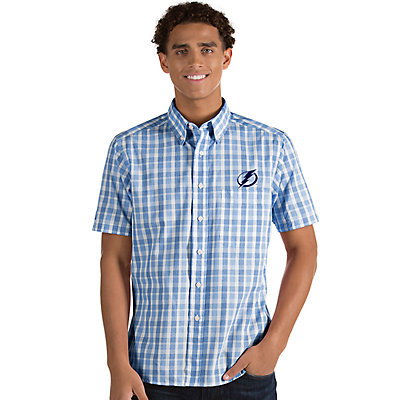 Men's Antigua Tampa Bay Lightning Button-Down Shirt
