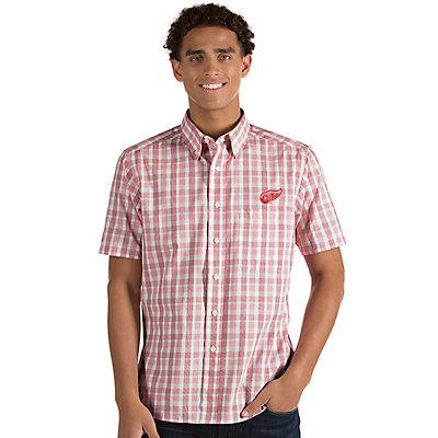 Men's Antigua Detroit Red Wings Button-Down Shirt