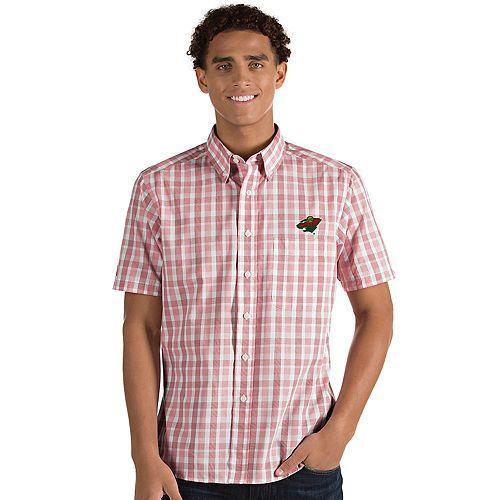Men's Antigua Minnesota Wild Button-Down Shirt