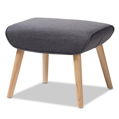 Baxton Studio Mid-Century Chair & Ottoman Set