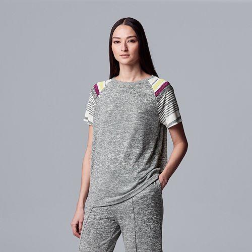 Women's Simply Vera Vera Wang Marled Jersey Pajama Top