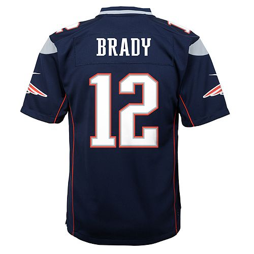 814f6101e Boys 8-20 Nike New England Patriots Tom Brady Game Jersey