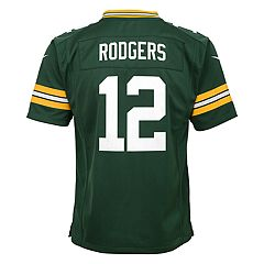 Boys 8-20 Nike Green Bay Packers Aaron Rodgers Game Jersey 163781fbf