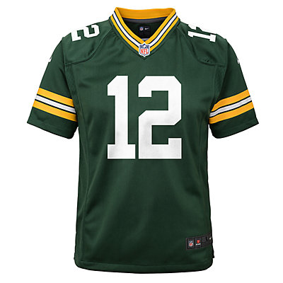 Boys 8-20 Nike Green Bay Packers Aaron Rodgers Game Jersey