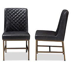 Baxton Studio Industrial Dining Chair 2-piece Set