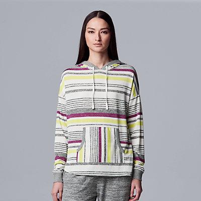 Women's Simply Vera Vera Wang Hooded Marled Pajama Top
