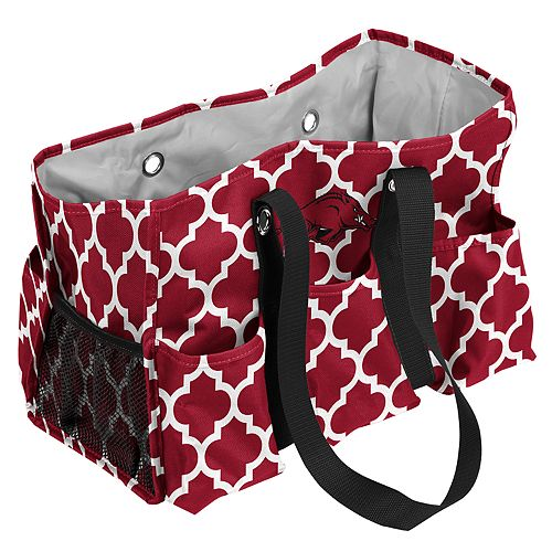 Arkansas Razorbacks Quatrefoil Junior Caddy