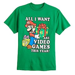Boys 8-20 Super Mario Bros. Christmas Tee