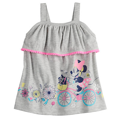 Disney's Minnie Mouse Baby Girl Graphic Pom-Trim Tank Top by Jumping Beans®