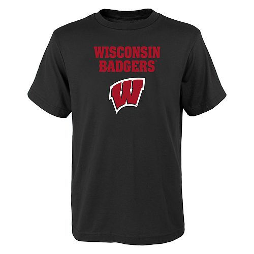Boys 4-18 Wisconsin Badgers Goal Line Tee