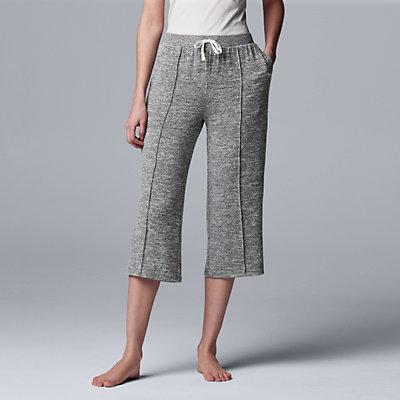 Women's Simply Vera Vera Wang Marled Pajama Culottes